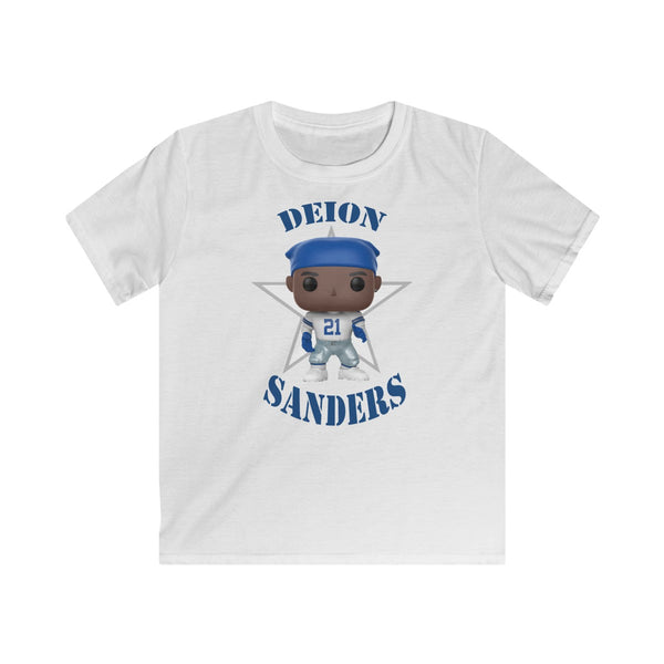 Deion Sanders Dallas Cowboys, Kids Gildan Softstyle Tee Shirt