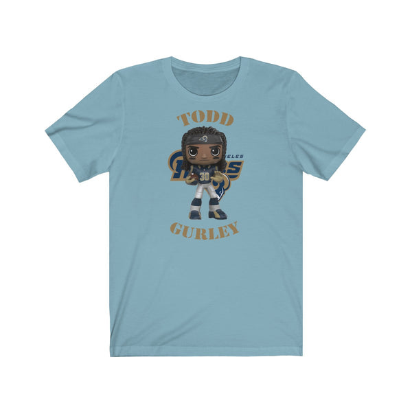Todd Gurley L.A Rams (Large), Soft Cotton Bella and Canvas Short Sleeve Tee shirt