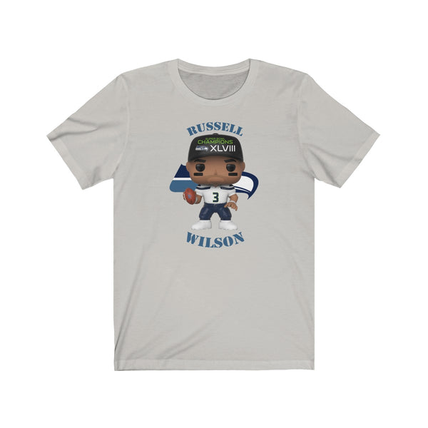 Russell Wilson Seattle Seahawks, Soft Cotton Bella and Canvas Short Sleeve Tee shirt