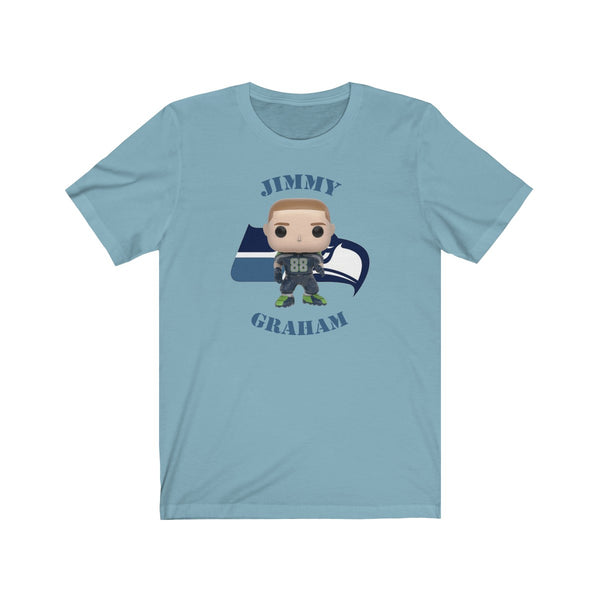 Jimmy Graham Seattle Seahawks, Soft Cotton Bella and Canvas Short Sleeve Tee shirt