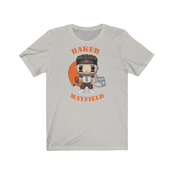 Baker Mayfield Cleveland Browns, Soft Cotton Bella and Canvas Short Sleeve Tee shirt