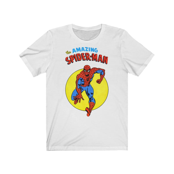 The Amazing Spiderman. Long Lasting Print Soft Cotton Bella and Canvas Short Sleeve Tee shirt
