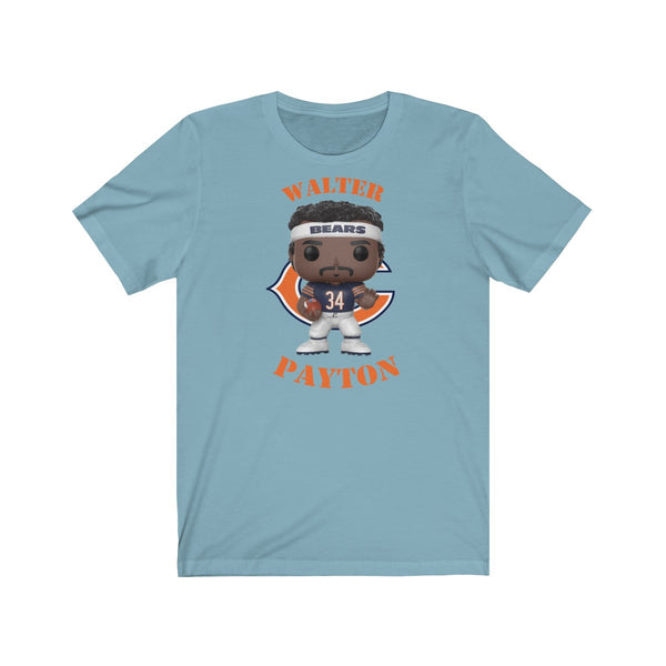 Walter Payton Chicago Bears (Dark), Soft Cotton Bella and Canvas Short Sleeve Tee shirt