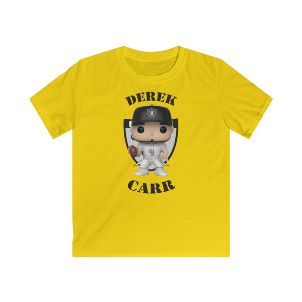 Derek Carr Oakland Raiders, Kids Gildan Softstyle Tee Shirt