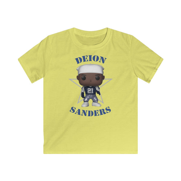 Deion Sanders Dallas Cowboys Throwback, Kids Gildan Softstyle Tee Shirt