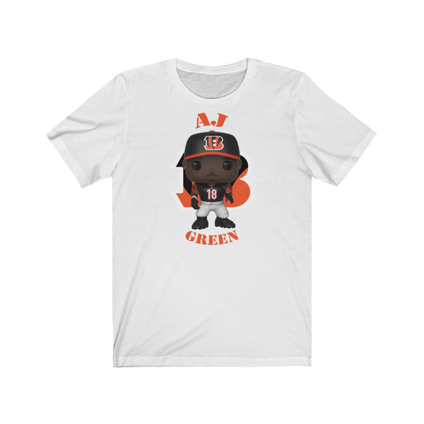 A.J Green Cincinnati Bengals, Soft Cotton Bella and Canvas Short Sleeve Tee shirt