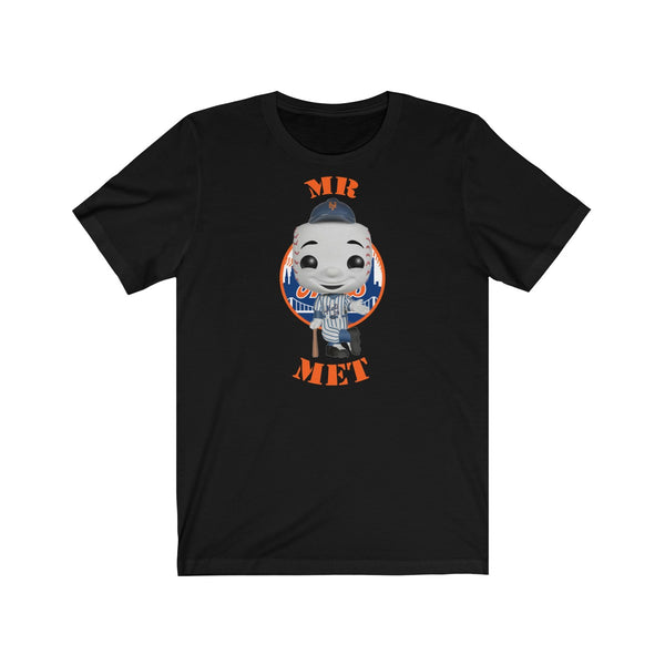 Mr Met New York Mets, Soft Cotton Bella and Canvas Short Sleeve Tee shirt