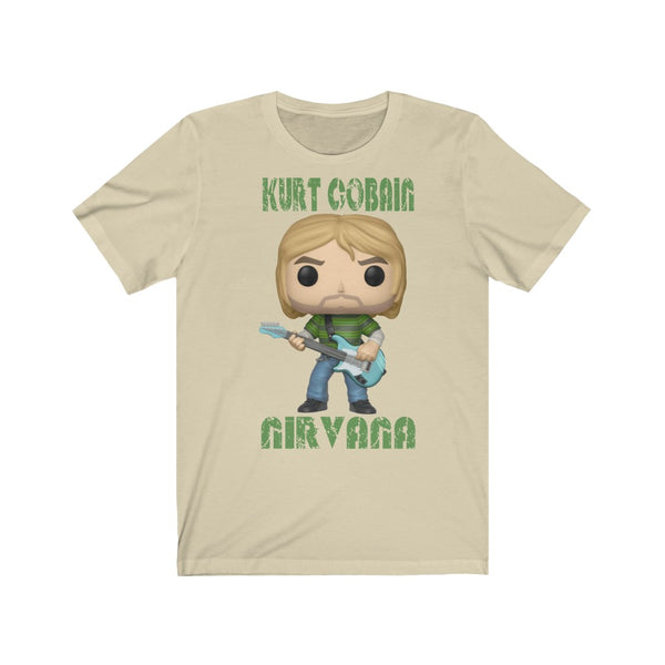 Kurt Cobain Green Jumper, Soft Cotton Bella and Canvas Short Sleeve Tee shirt