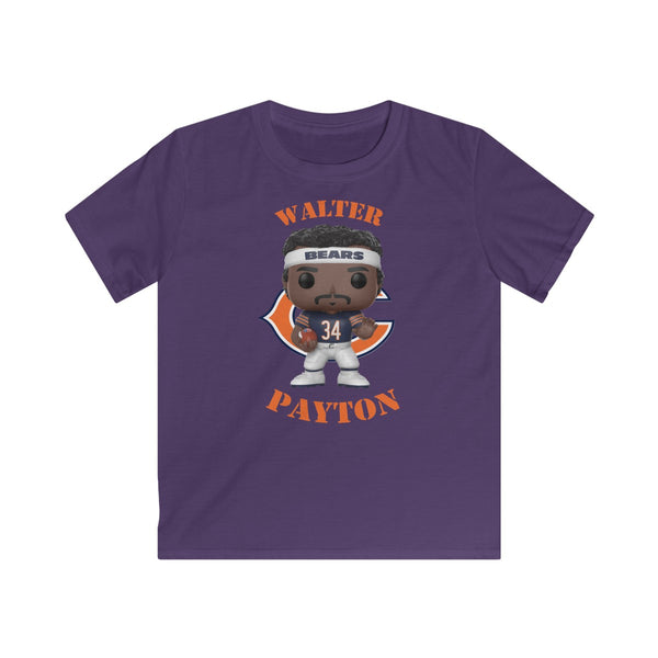 Walter Payton Chicago Bears (Dark Jersey), Kids Gildan Softstyle Tee Shirt