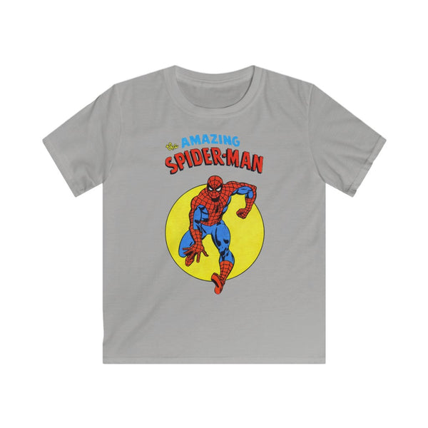 The Amazing Spiderman Kids Retro Marvel Tee Shirt. Gildan Softstyle Tee Shirt With Long Lasting Print.