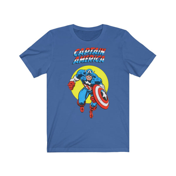 Captain America! Long Lasting Print Soft Cotton Bella and Canvas Short Sleeve Tee shirt