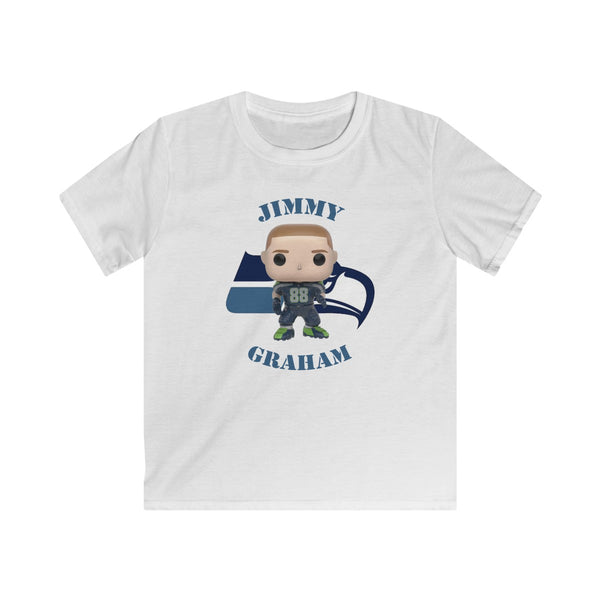 Jimmy Graham Seattle Seahawks, Kids Gildan Softstyle Tee Shirt