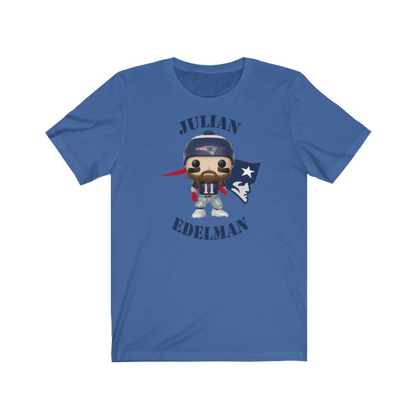 Julian Edelman New England Patriots, Soft Cotton Bella and Canvas Short Sleeve Tee shirt