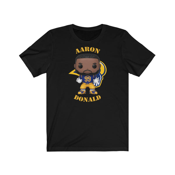 Aaron Donald L.A Rams, Soft Cotton Bella and Canvas Short Sleeve Tee shirt