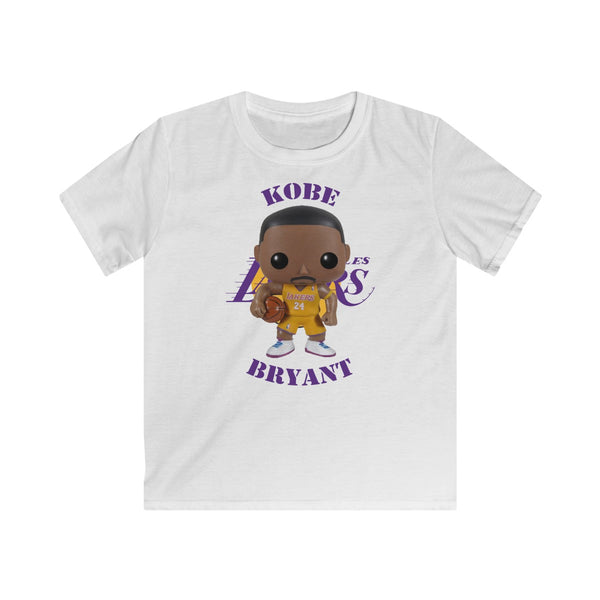 Kobe Bryant L.A Lakers (Yellow), Kids Gildan Softstyle Tee Shirt