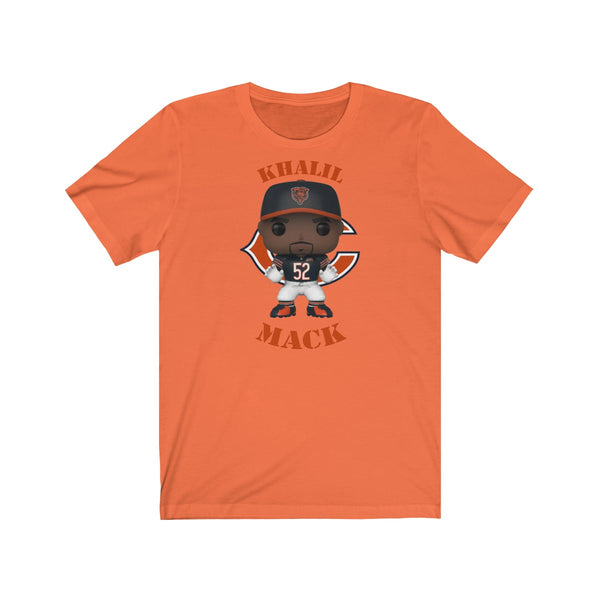 Khalil Mack Chicago Bears, Soft Cotton Bella and Canvas Short Sleeve Tee shirt