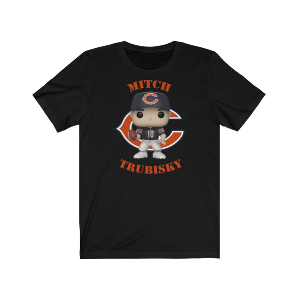 Mitch Trubisky Chicago Bears, Soft Cotton Bella and Canvas Short Sleeve Tee shirt