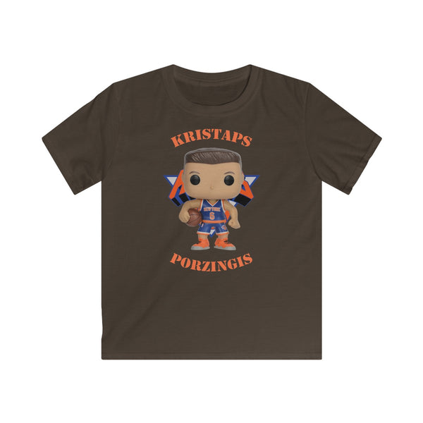 Kristaps Porzingis New York Knicks, Kids Gildan Softstyle Tee Shirt