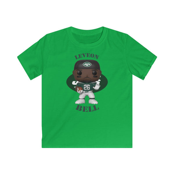 Leveon Bell New York Jets, Kids Gildan Softstyle Tee Shirt