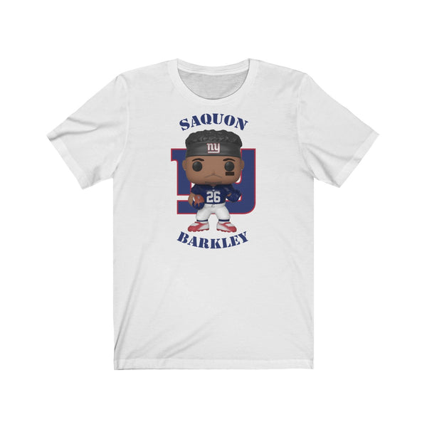 Saquon Barley New York Giants, Soft Cotton Bella and Canvas Short Sleeve Tee shirt