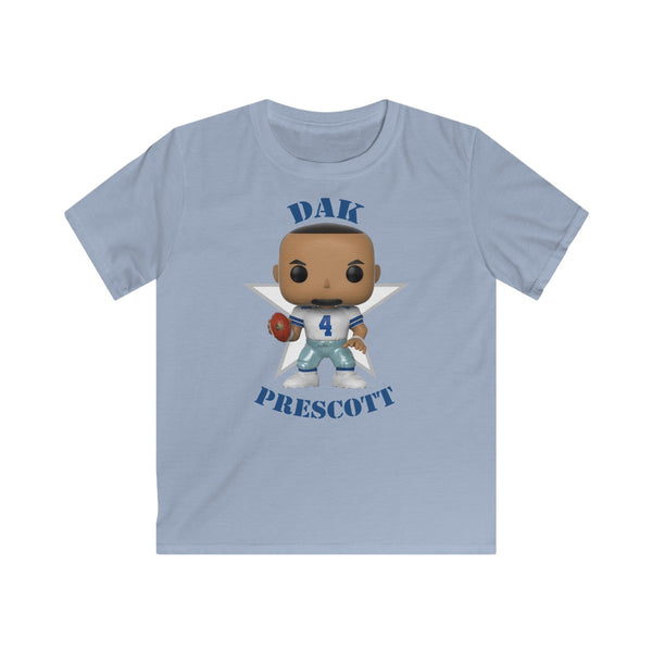 Dak Prescott Dallas Cowboys, Kids Gildan Softstyle Tee Shirt