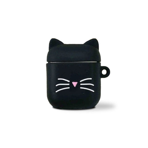 Coque Airpods Noire Chat | Village Kawaii