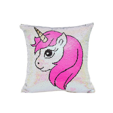 Coussin en Sequin Licorne | Village Kawaii