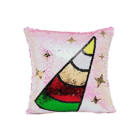 Coussin Licorne en Sequin | Village Kawaii