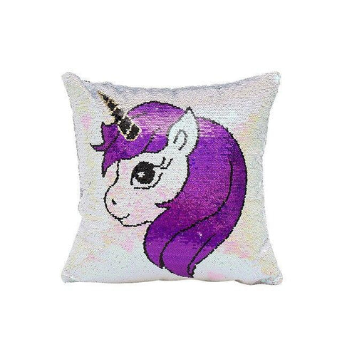 Coussin Licorne Paillettes (Sequin) | Village Kawaii