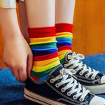 Kawaii Chaussettes Arc-en-Ciel | Village Kawaii