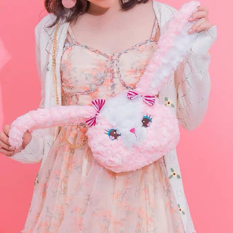 Lapin Sac Rose Kawaii | Village Kawaii