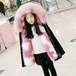 Manteau Fille Fourrure Rose | Village Kawaii