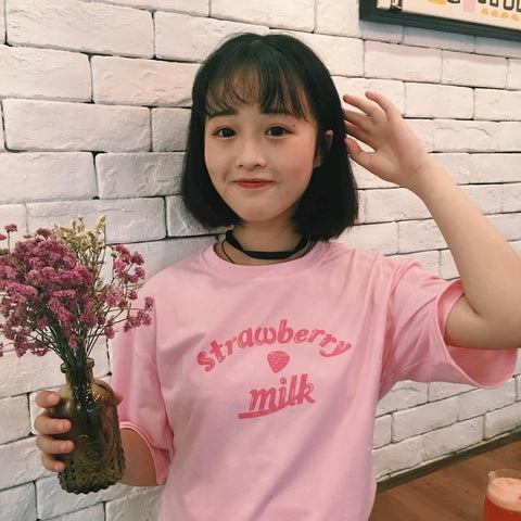 Milk T-Shirt Kawaii | Village Kawaii