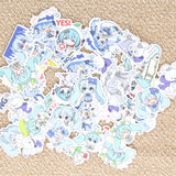 Papeterie Kawaii<br> Stickers Bleue