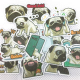 Papeterie Kawaii<br> Stickers Pug
