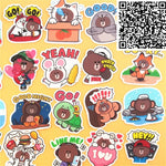 Papeterie Kawaii<br> Stickers Rilakkuma Costumé