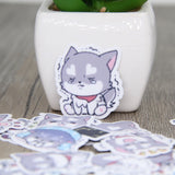 Papeterie Kawaii<br> Stickers Chien Gris