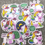 Papeterie Kawaii<br> Stickers Licorne