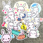 Papeterie Kawaii<br> Stickers Lapin Rose
