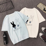 T Shirt Rabbit Baby Blanc