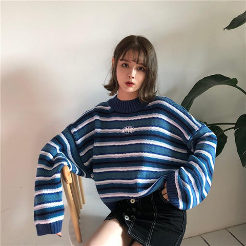 Pull Kawaii Lazy Blue
