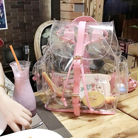 Sac à Dos Transparent pour Femme Kawaii | Village Kawaii