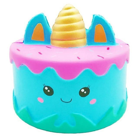 Squishy Gâteau Licorne Bleu | Village Kawaii