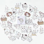 Stickers Chat Blanc | Village Kawaii