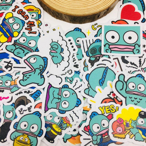 Stickers Dessin-Animé Japonais Hangyodon | Village Kawaii