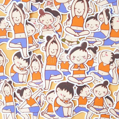 Stickers Yoga | Village Kawaii