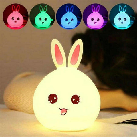 Veilleuse LED Lapin Rose Kawaii