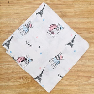 Baby Organic Muslin Wrap - Dogs - Our Baby Nursery