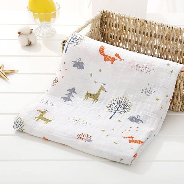 Baby Organic Muslin Wrap - Forest - Our Baby Nursery