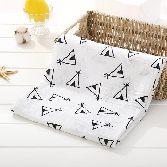 Baby Organic Muslin Wrap - Teepees - Our Baby Nursery